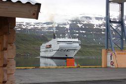 Norræna kom til Seyðisfjarðar klukkan níu í morgun.