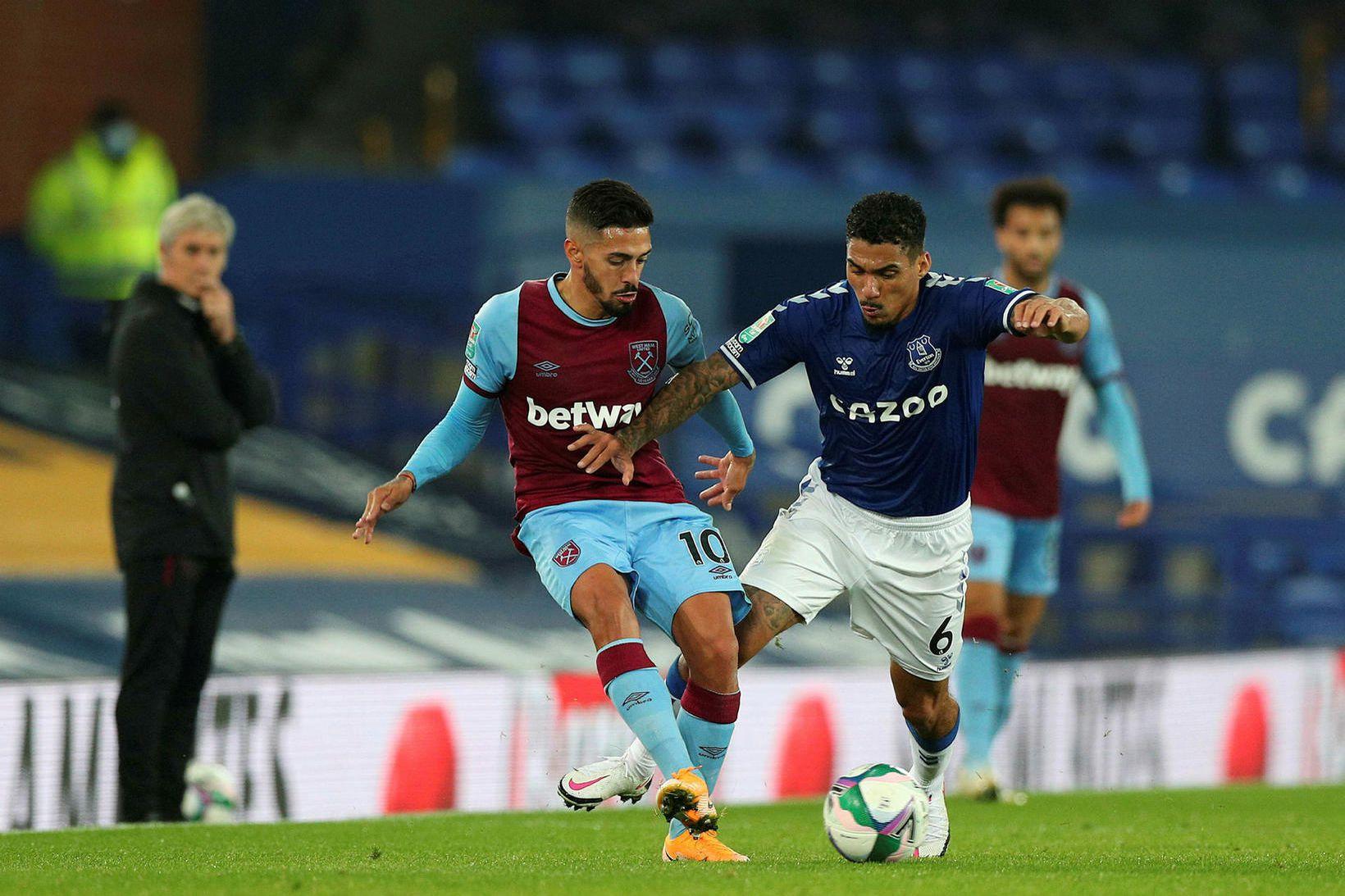 Allan í leiknum gegn West Ham í kvöld.