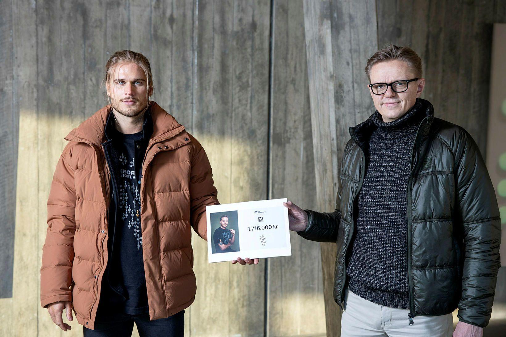 Rúrik Gíslasyni og Ragnari Schram á Kjarvalsstöðum.