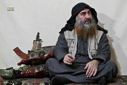 Baghdadi sprengdi sjálfan sig í loft upp í árás Bandaríkjahers á fylgsni hans í Idlib-héraði …