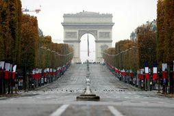 Champs-Elysees mun fá græna andlitslyfingu á næstu árum.