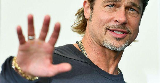 Brad Pitt var í Frakklandi.