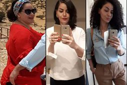 Mouna El Khory léttist um 44 kíló á tveimur árum.