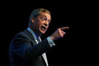 Nigel Farage, leiðtogi Brexitflokksins.
