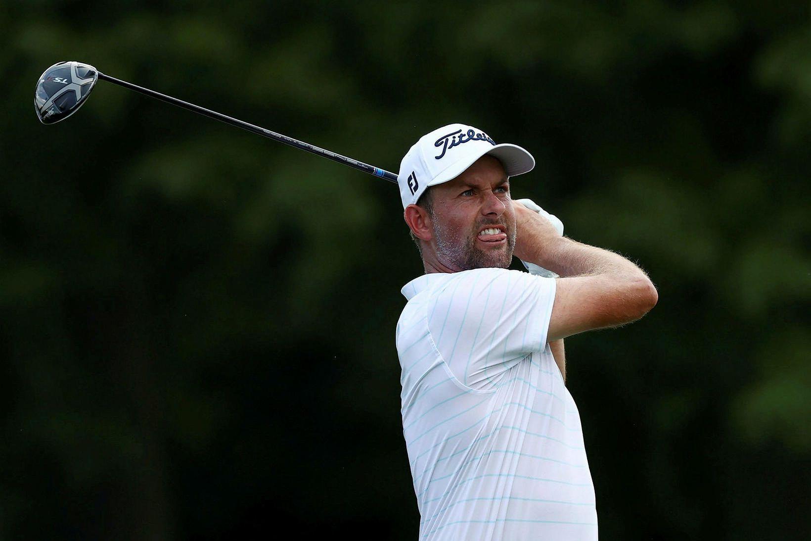 Webb Simpson hefur leikið frábært golf í Detroit í Bandaríkjunum …