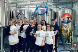 Glatt var á hjalla hjá stelpunum í The Brothers Brewery íVestmannaeyjum á laugardaginn síðasta. Valgerður …
