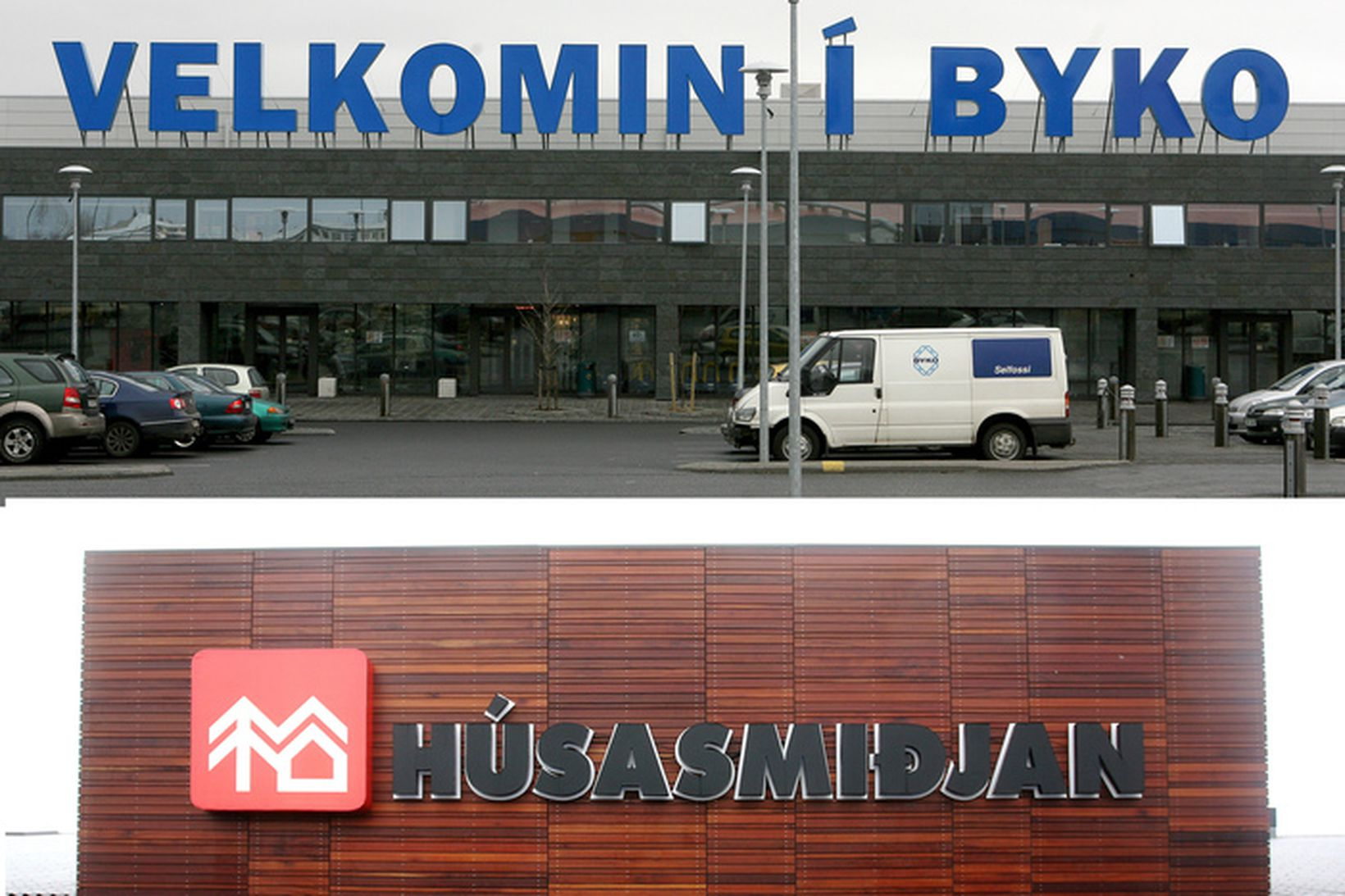 Mennirnir unnu bæði hjá BYKO og Húsasmiðjunni.