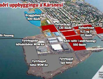 Hluti af fyrirhugaðri uppbyggingu á Kársnesi.