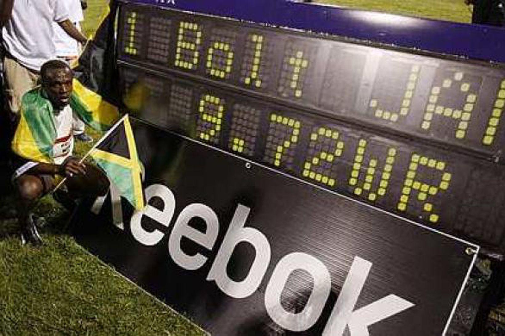 Usain Bolt frá Jamaíku er með hreinan skjöld og er …