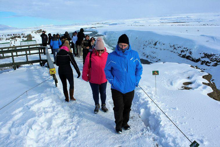 British tourists enjoy visiting Iceland in winter.