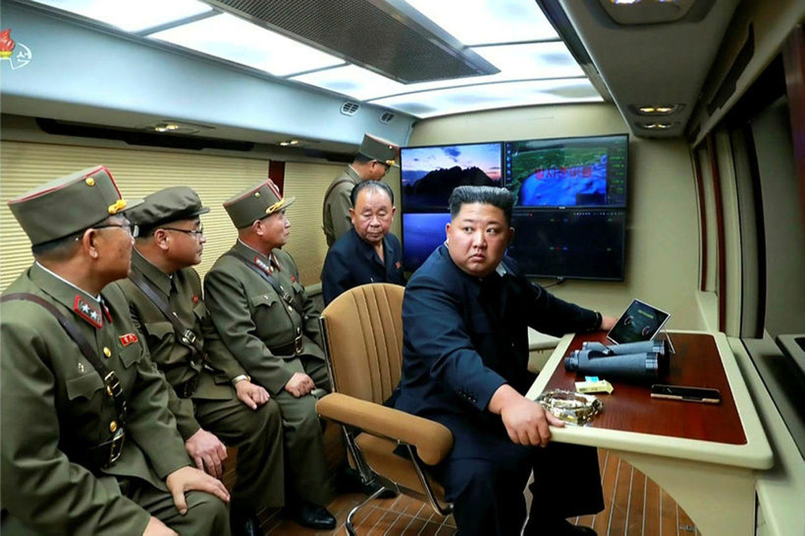 Kim Jong-un, einræðisherra N-Kóreu, var allt annað en sáttur.