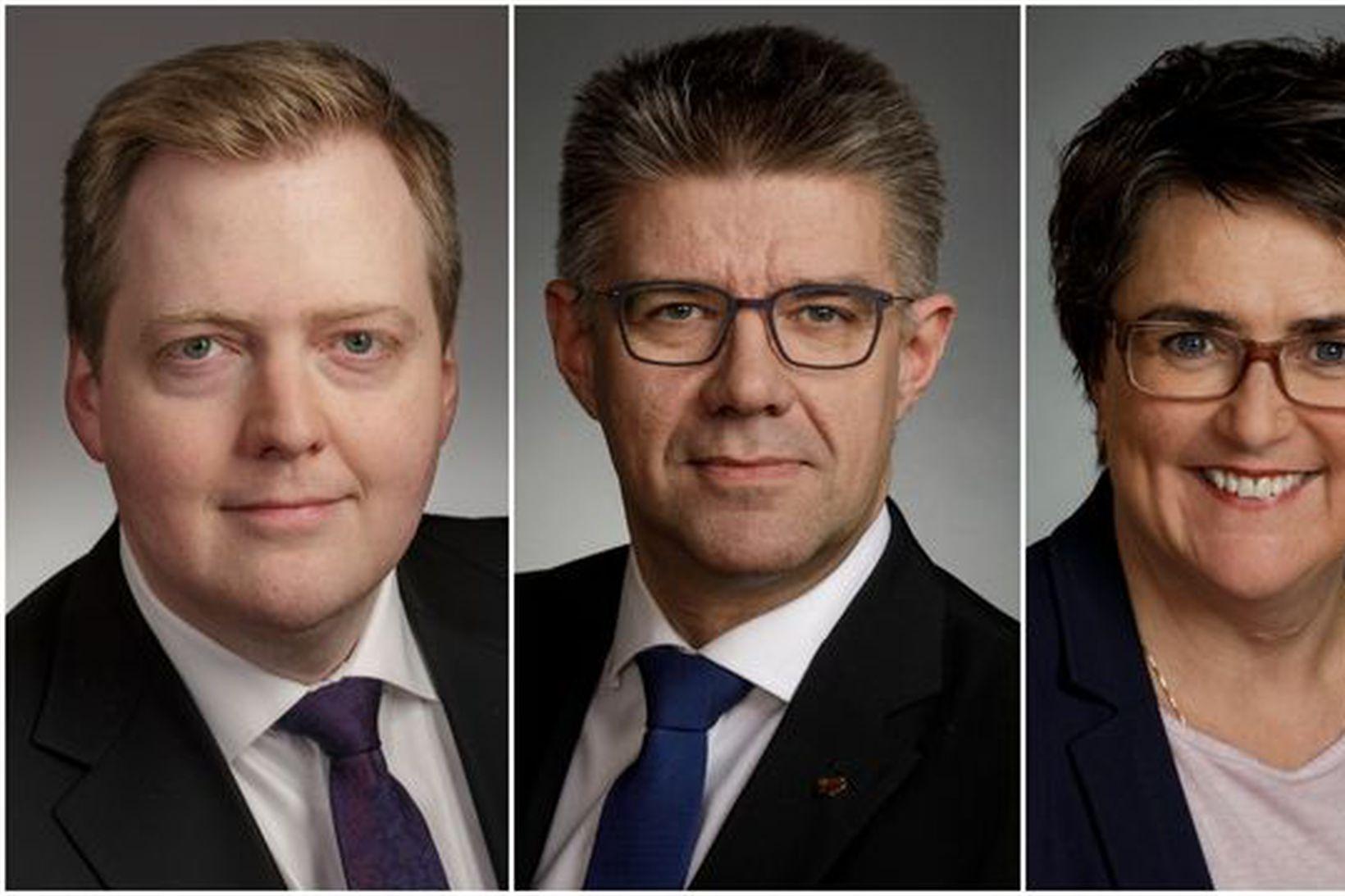 Sigmundur Davíð Gunnlaugsson, Gunnar Bragi Sveinsson, Anna Kolbrún Árnadóttir og …
