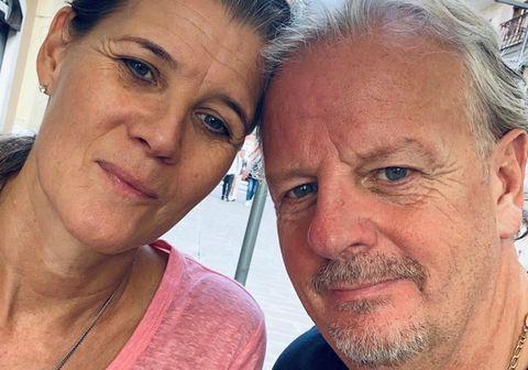 María B. Johnson og Jón Axel á Ítalíu.