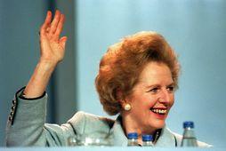 Margaret Thatcher, fyrrverandi forsætisráðherra Bretlands.