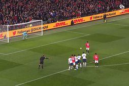 Tap í endurkomu Mourinho á Old Trafford (myndskeið)