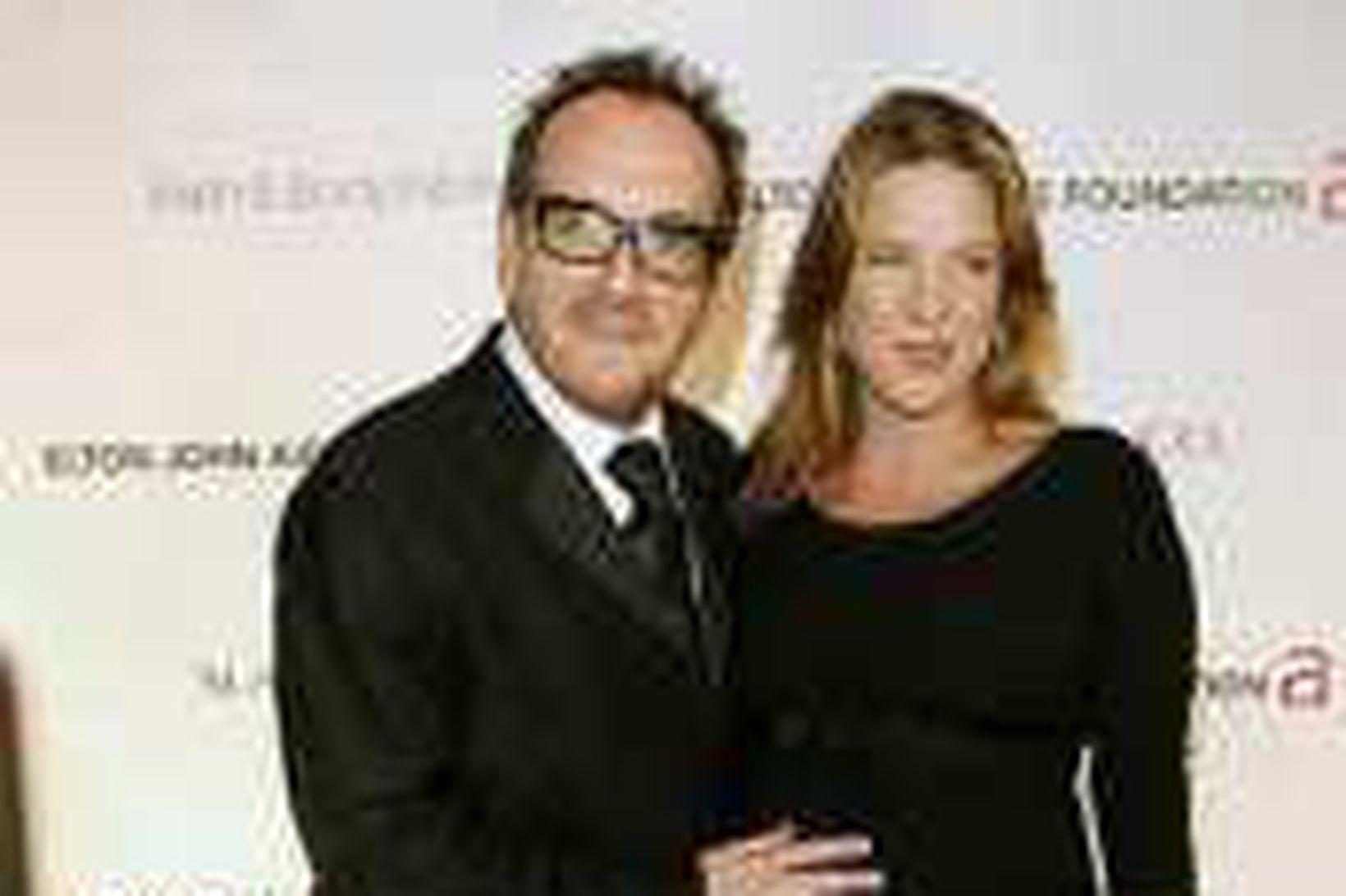 Elvis Costello og Diane Krall en hún var komin sjö …