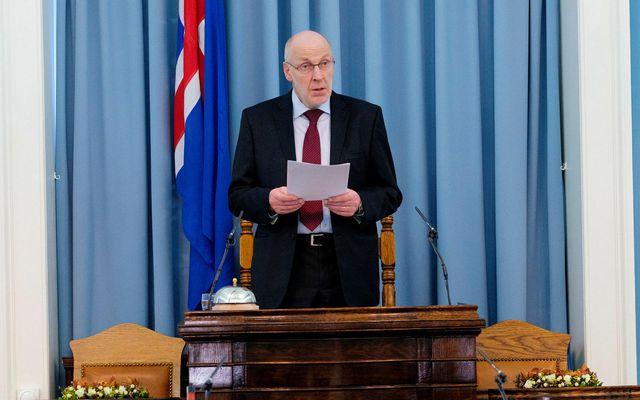 Steingrímur J. Sigfússon, fráfarandi forseti Alþingis og þingmaður.