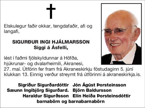 Sigurður Ingi Hjálmarsson