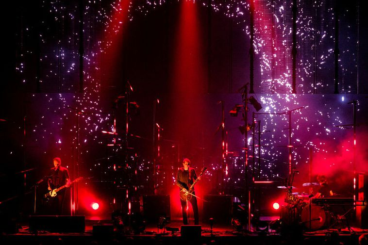 Sigur Rós is Iceland's most famous rock group. Here they are performing at the Norður ...