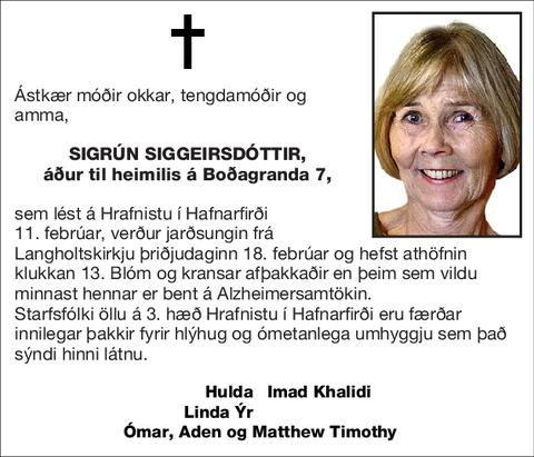 Sigrún Siggeirsdóttir,