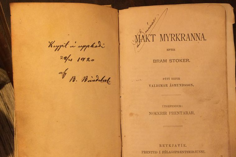 The first edition of Makt myrkranna.