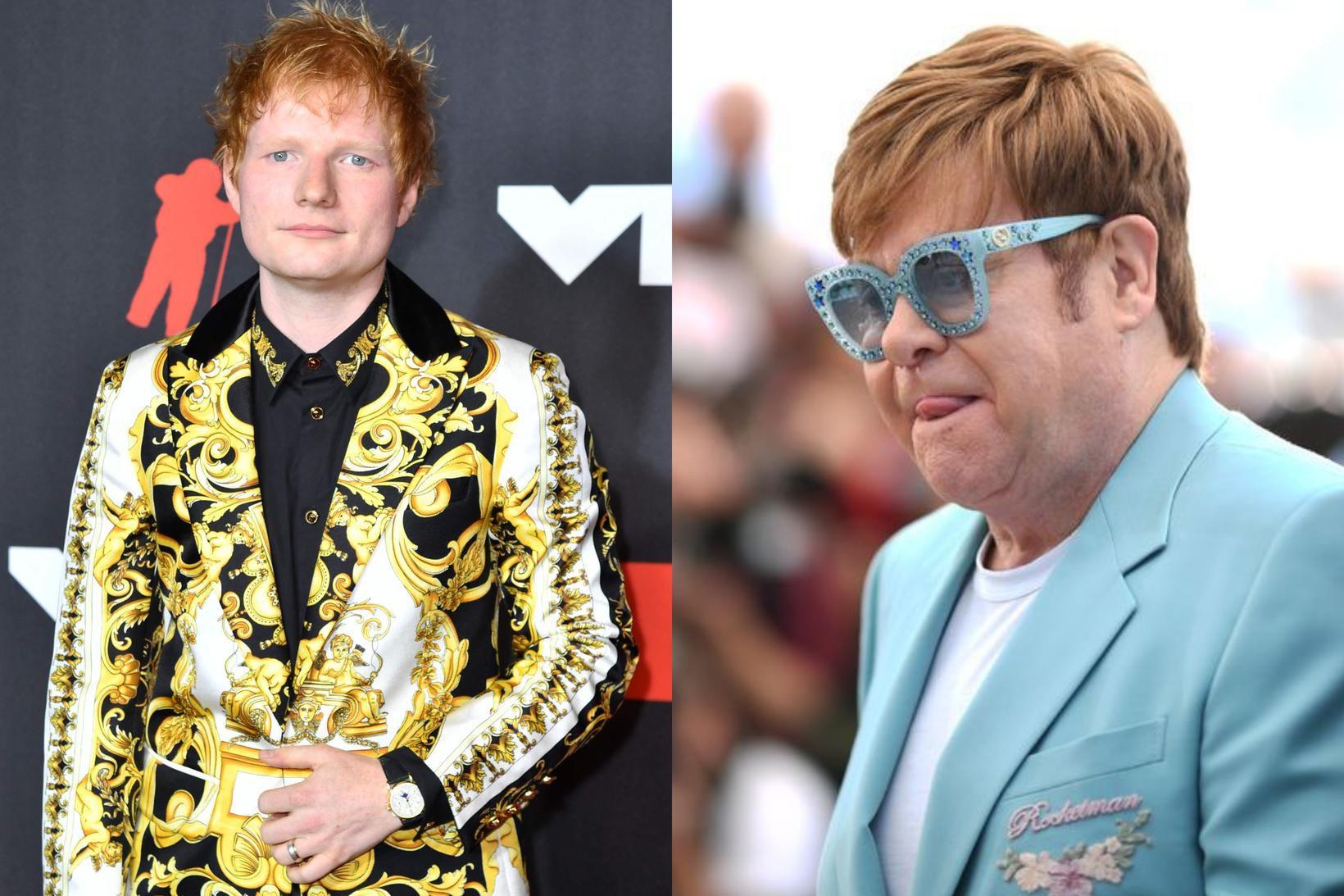 Ed Sheeran fær innblástur frá Elton John.