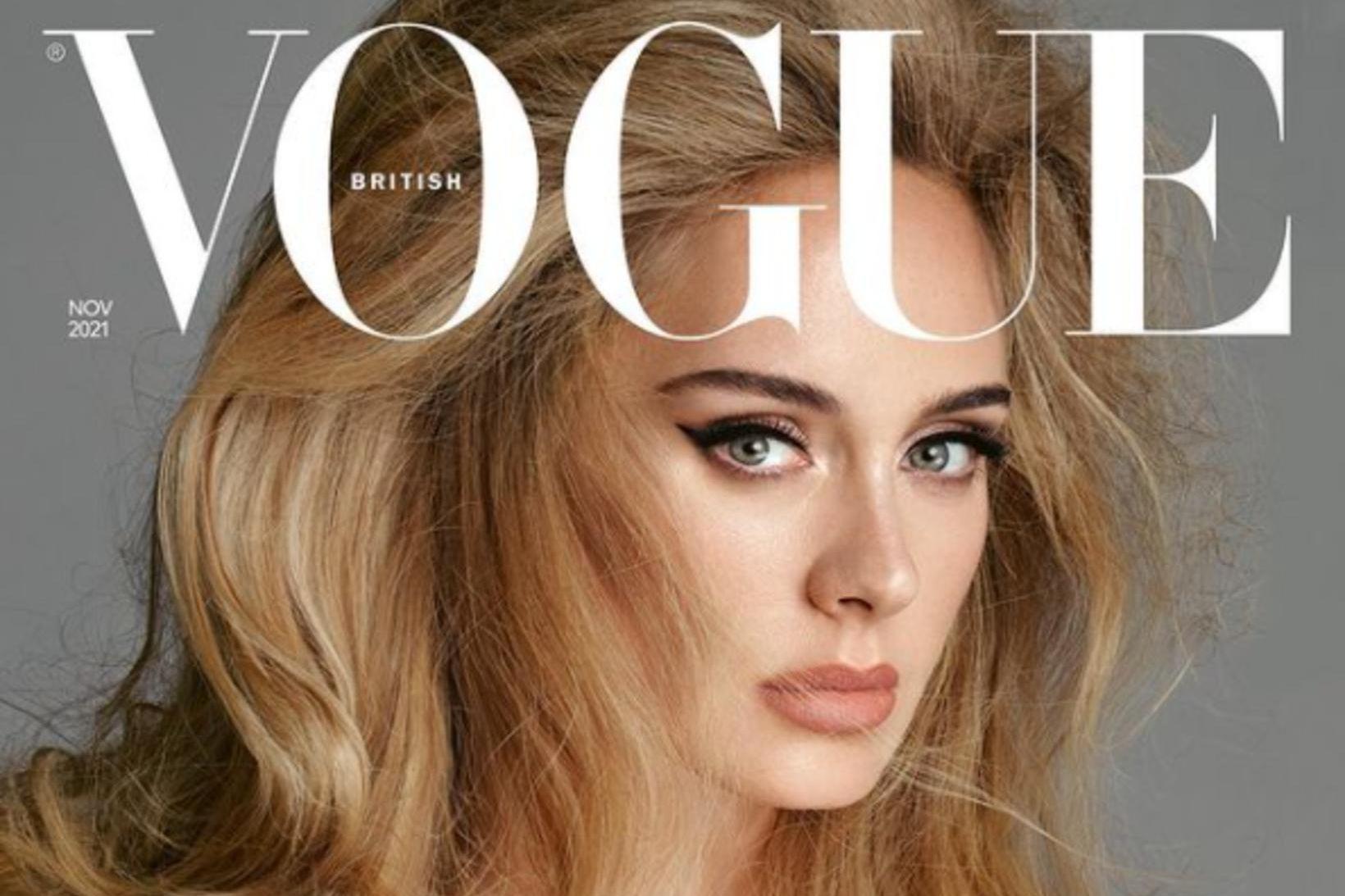 Adele prýðir forsíðu Vogue í Bandaríkjunum og Bretlandi.