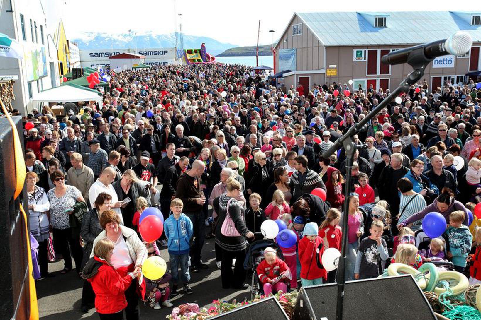 Fiskidagurinn mikli á Dalvík er fjölmenn hátíð.
