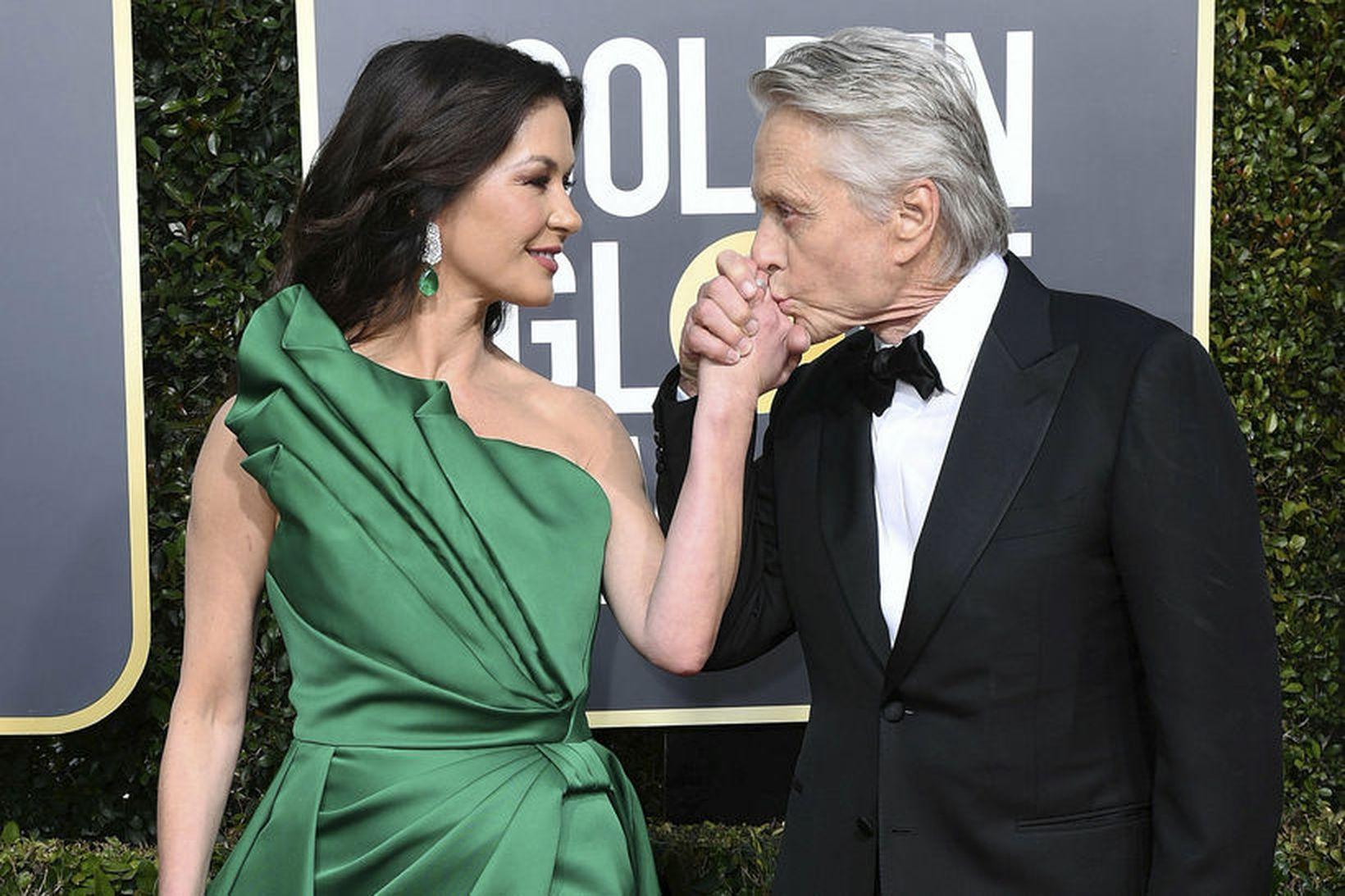 Catherine Zeta-Jones er gift leikaranum Michael Douglas.