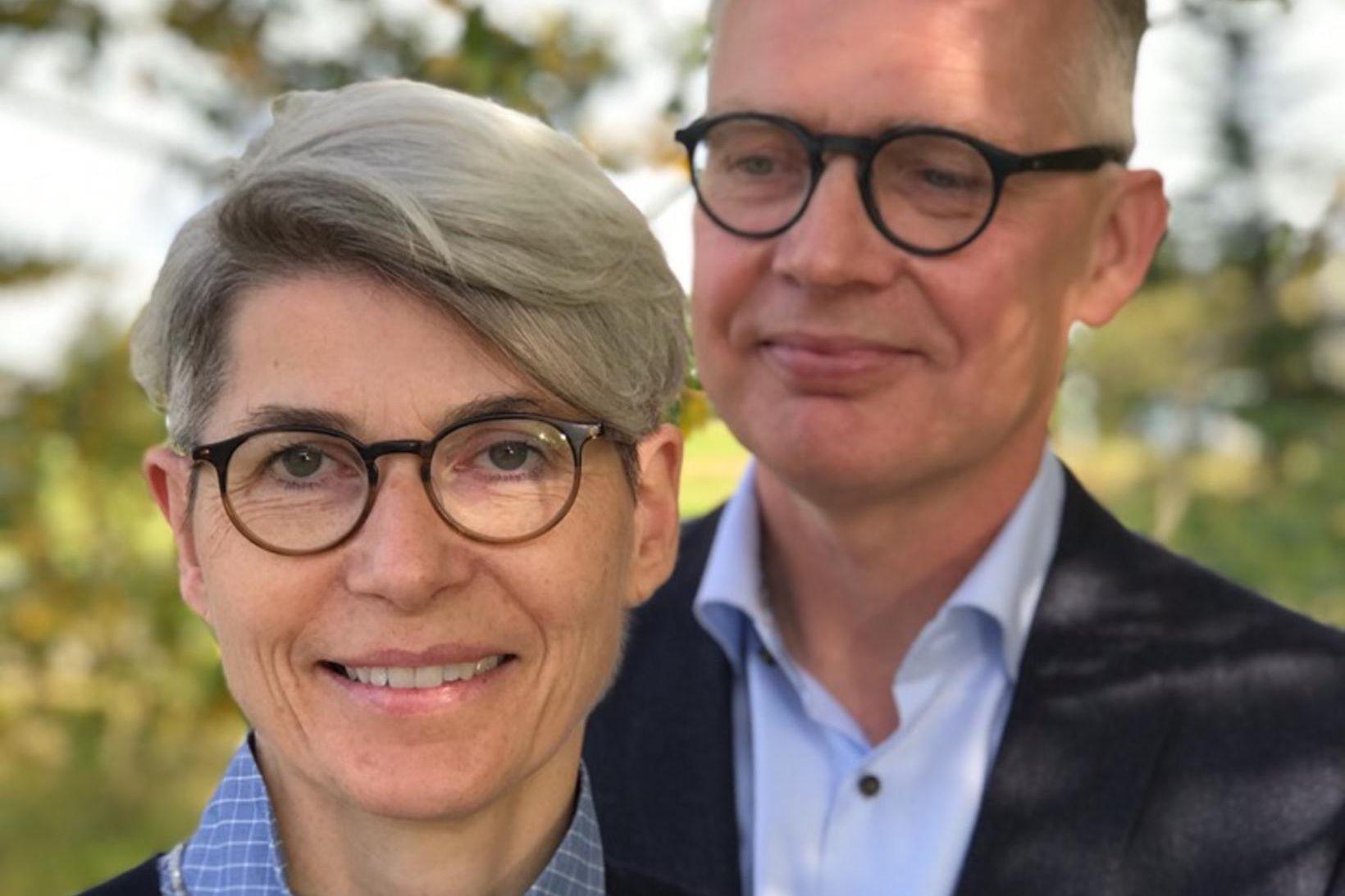Ellý Katrín Guðmundsdóttir og eiginmaður hennar Magnús Karl Magnússon