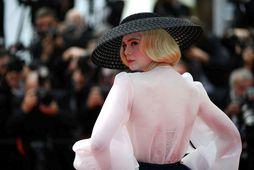 Elle Fanning í Dior í Cannes.