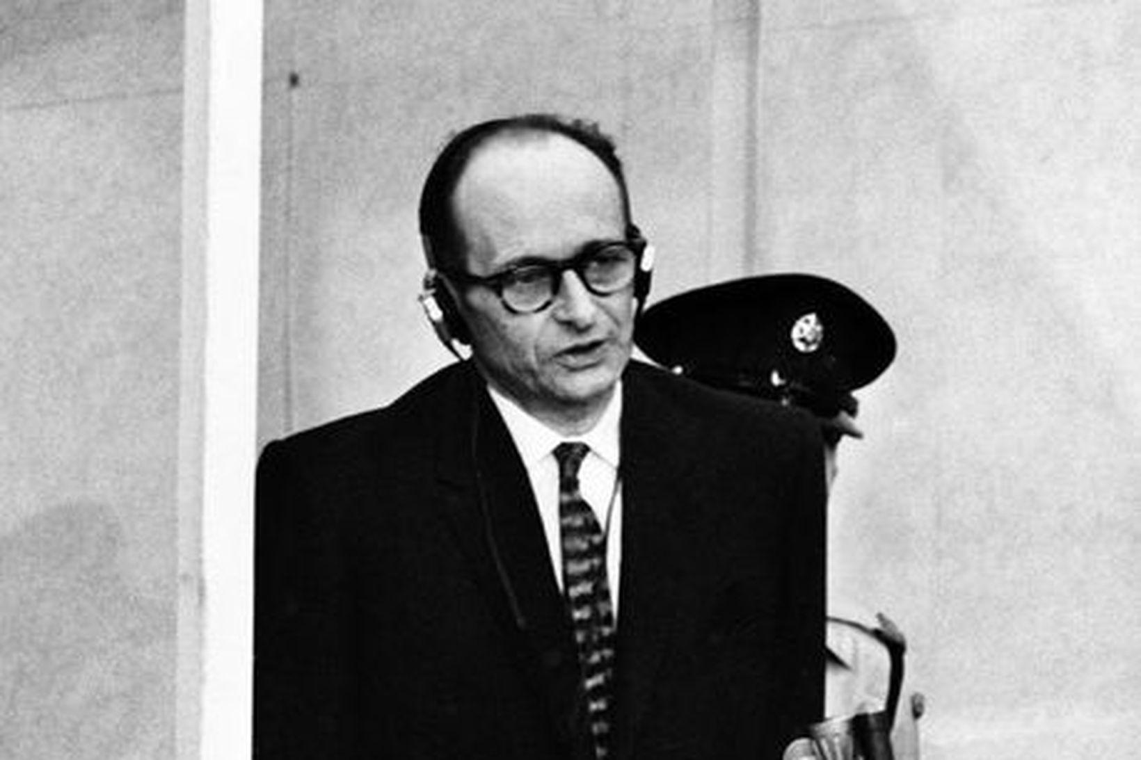 Þessi mynd af Adolf Eichmann var tekin 11. apríl 1961, …