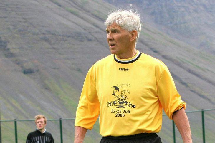 Björn Helgason var fyrsti landsliðsmaður Ísfirðinga í fótbolta.