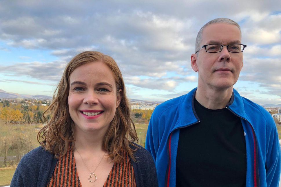 Dr. Ragna G. Finnbjörnsdóttir og Þorsteinn Jóhannsson, tveir af höfundum ...