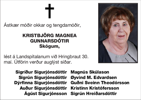 Kristbjörg Magnea Gunnarsdótir