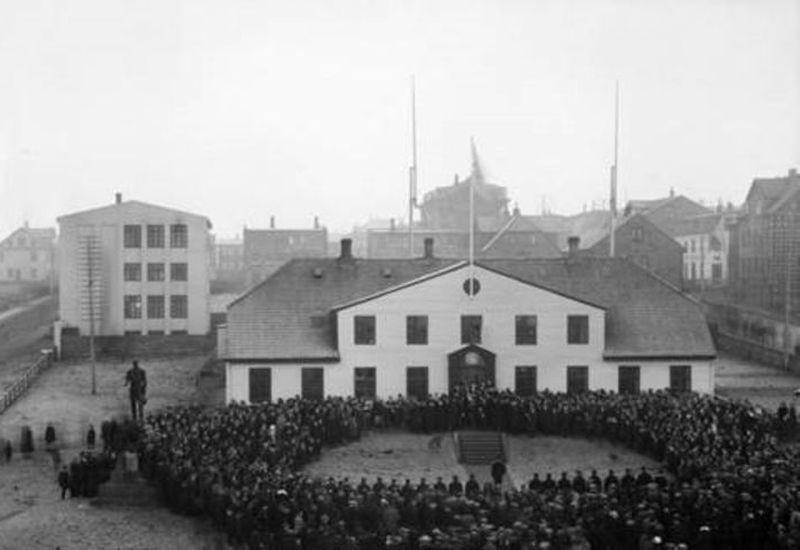 Sovereignty celebrations in Reykjavik in 1018.