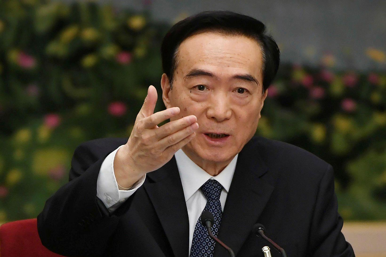 Chen Quanguo, formaður Kommúnistaflokksin í Xinjiang, er háttsettasti kínverski embættismaðurinn …