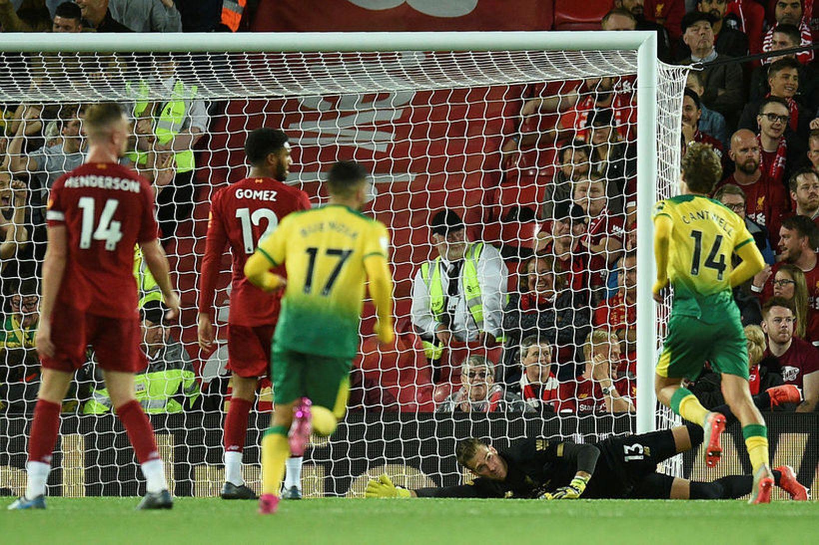 Liverpool og Norwich mættust einnig í 1. umferð fyrir tveimur …