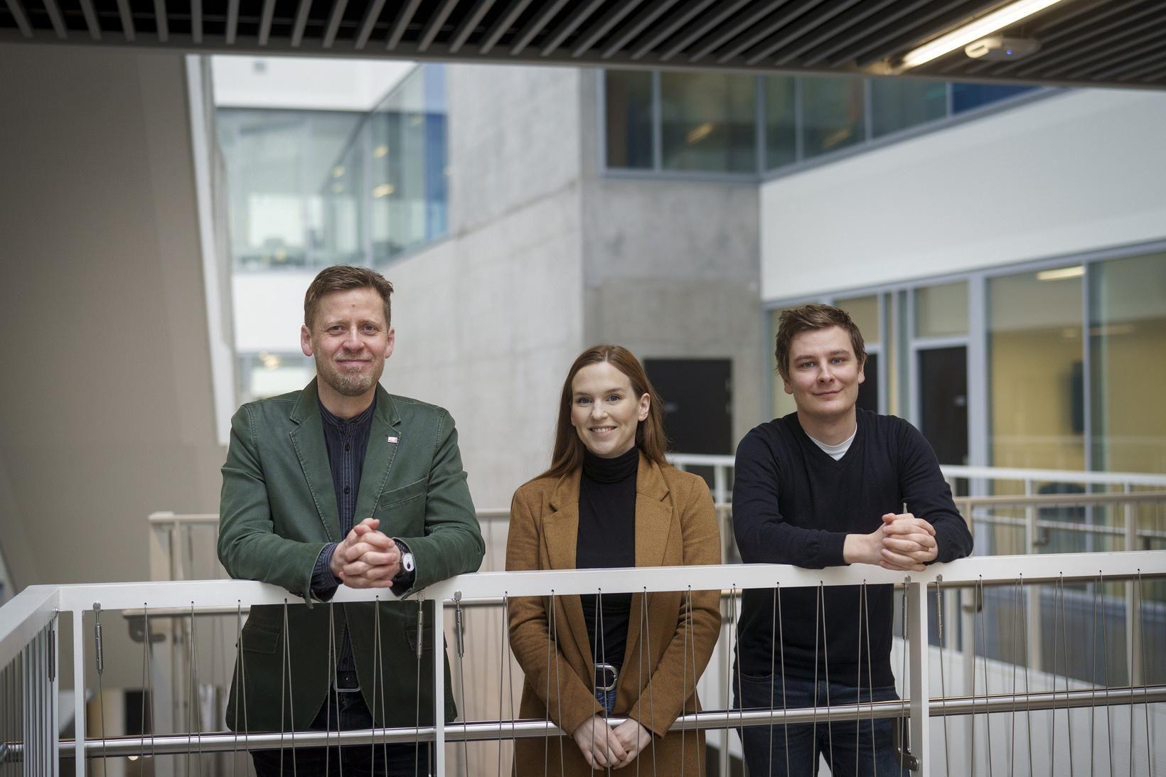 DataLab-teymið Brynjólfur, Stella og Dennis.