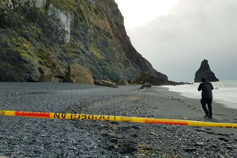 Police have cordoned off the area where the landslide occurred.