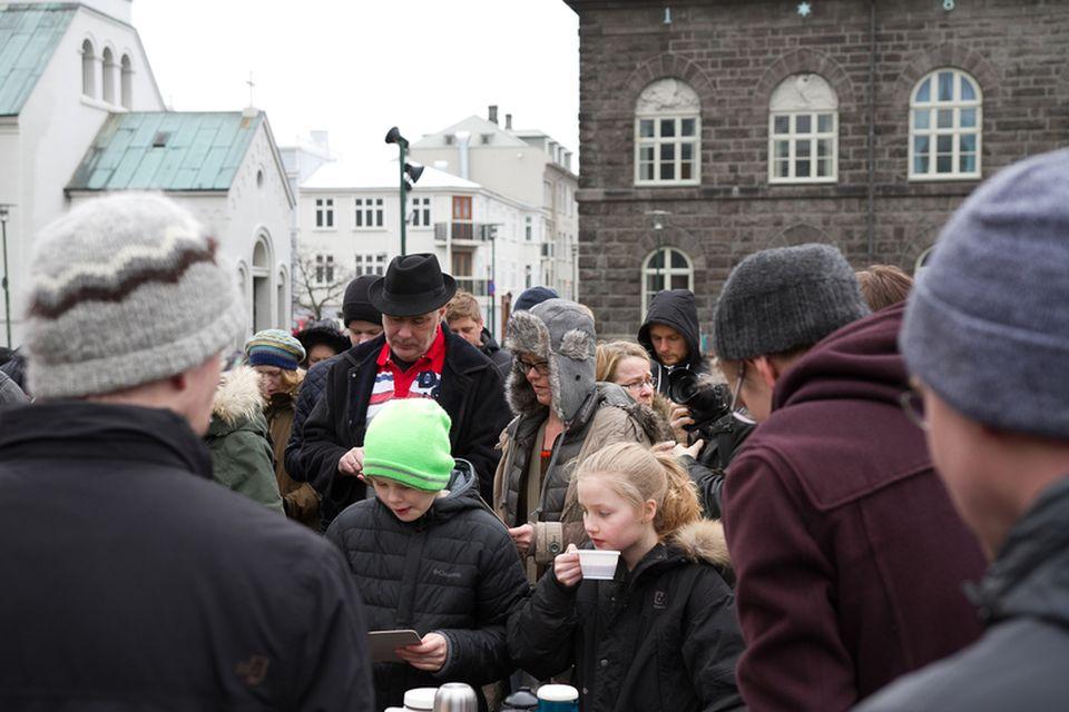 Félagið bauð einnig upp á veitingar.