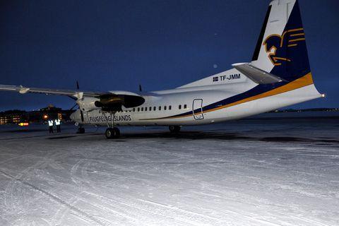 Fokker 50 registered TF-JMM left Reykjavik for Africa yesterday.