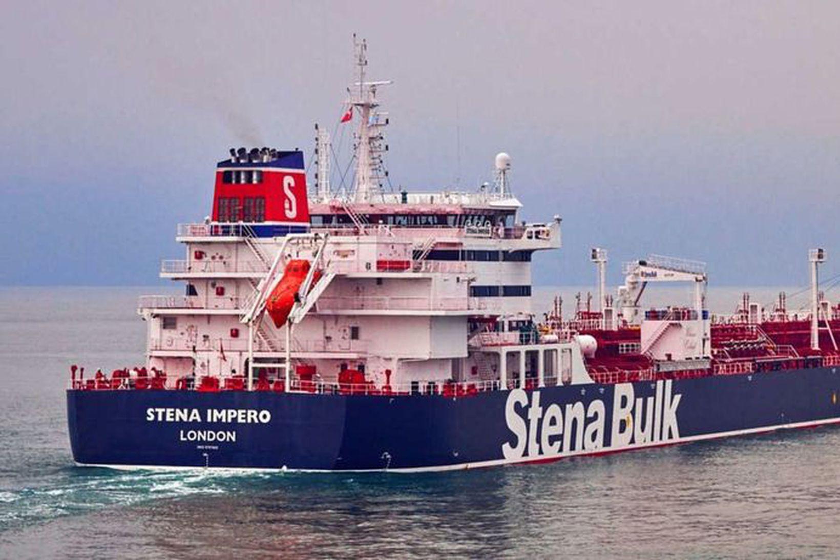 Stena Impero var tekið yfir af írönskum hermönnum í dag …