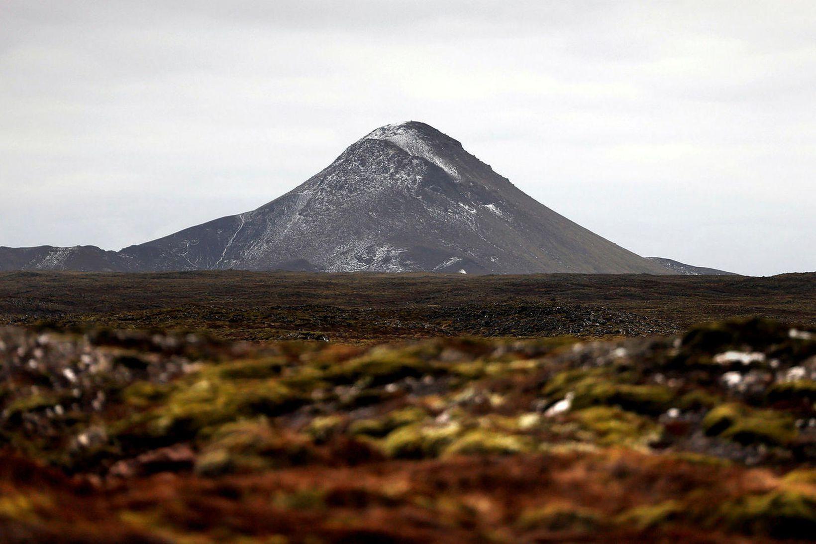 Jarðskjálftarnir eiga upptök sín í grennd við Keili.