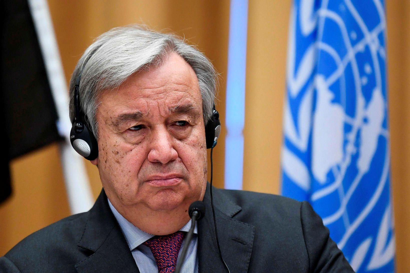António Guterres, aðalritari Sameinuðu þjóðanna.
