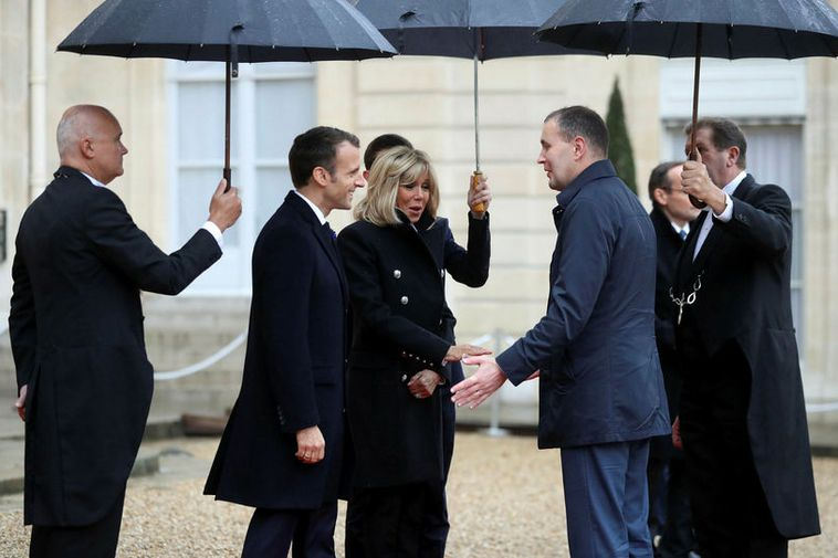 Guðni Th. Jóhannesson meets with President of France, Emmanuel Macron, and his wife Brigitte in ...