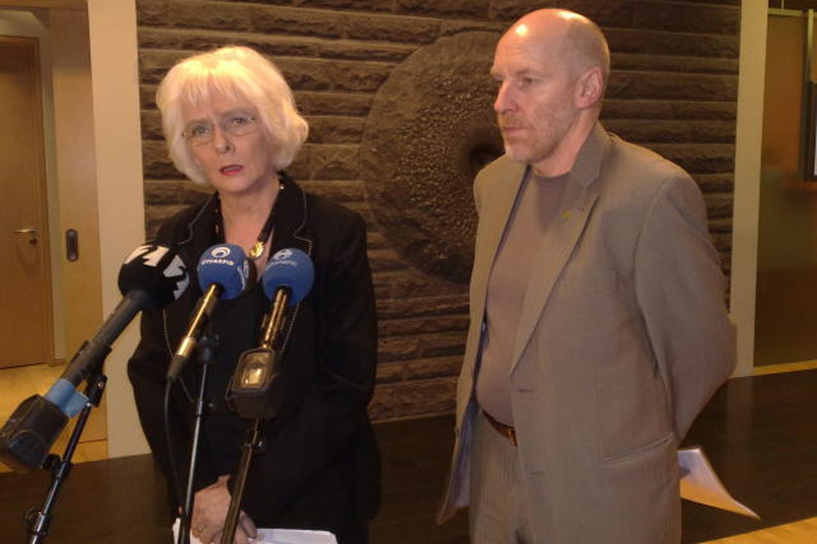 Jóhanna Sigurðardóttir, tilvonandi forsætisráðherra, og Steingrímur J. Sigfússon, væntanlegur fjármálaráðherra, …