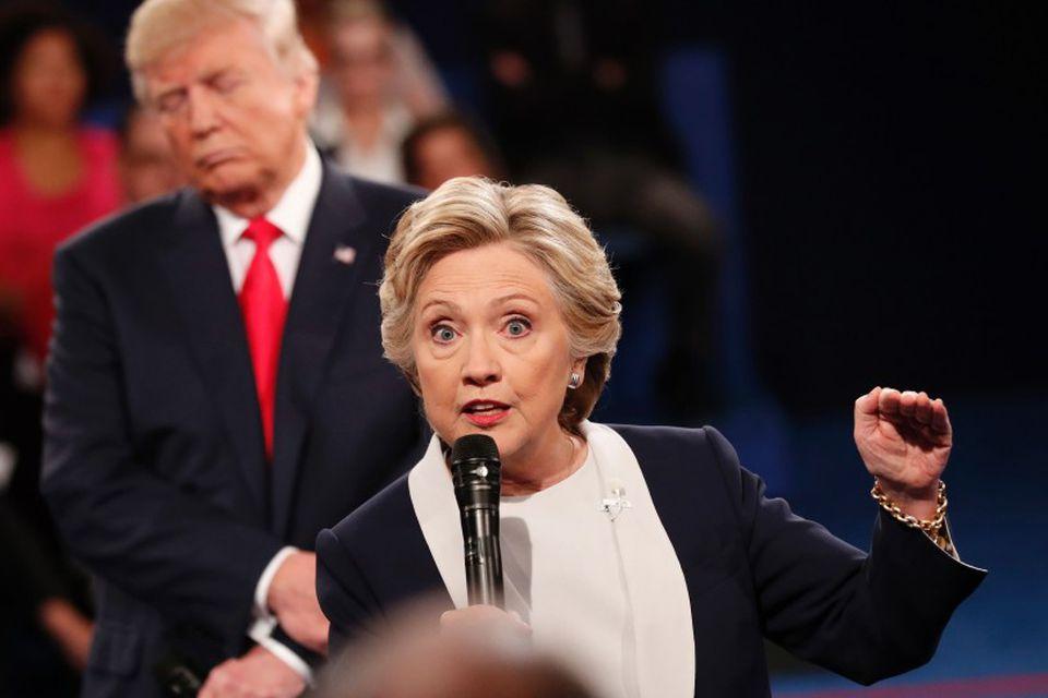 Hillary Clinton og Donald Trump tókust á í öðrum kappræðum sínum.