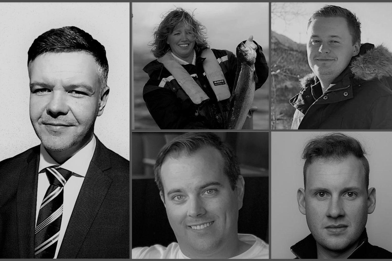 Fv.: Jón Garðar Jörundsson, Kjersti Haugen, Johnny Indergård, Hjörtur Methúsalemsson …