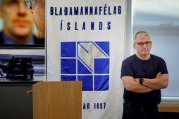 Hjálmar Jónsson formaður Blaðamannafélagsins.